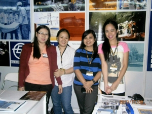 Ms April Ramos Ana Marie Nibal Juvy Tan (L to R)